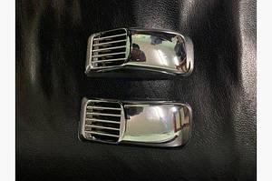 Решетка на повторитель `Прямоугольник` (2 шт, ABS) - Ford Fiesta 2002-2008 гг.