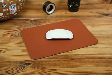 Кожаный коврик для мышки, натуральная кожа Grand, цвет Коньяк