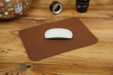 Кожаный коврик для мышки, натуральная кожа Grand, цвет Виски