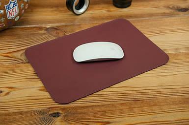 Кожаный коврик для мышки, натуральная кожа Grand, цвет Бордо