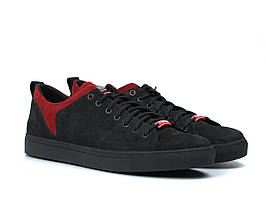 Кроссовки мужские из нубука демисезонные обувь больших размеров Rosso Avangard Fuoco Black Nub TPR BS
