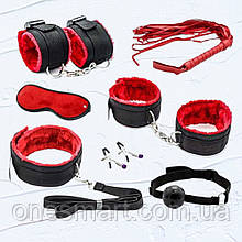Набір БДСМ для еротичних ігор чорний з червоним
