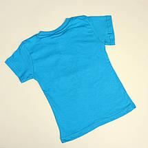 26892гол Голубая Футболка MiNECRAFT для мальчика тм MARIN'S размер 6,7 лет, фото 3