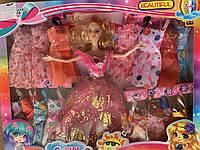 Кукла Барби с нарядоми, платьями, модница 88085 F гардероб