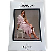 Бамбуковый халат Maison Dor Heaven Ecru хлопок кремовый