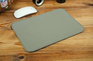 Килимок для мишки шкіряний, натуральна шкіра Grand, колір Сірий, фото 2