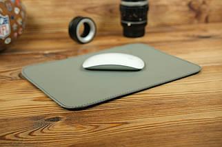 Килимок для мишки шкіряний, натуральна шкіра Grand, колір Сірий, фото 3