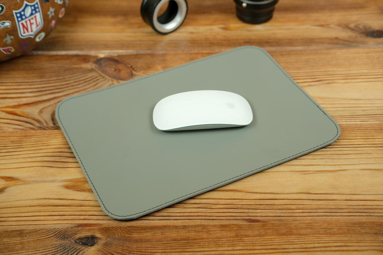 Килимок для мишки шкіряний, натуральна шкіра Grand, колір Сірий