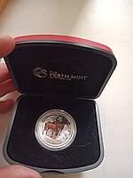 Оригинальная серебряная монета с сертификатом подлинностицветнаяЛОШАДЬ 2014 г. 1/2 унции в чехле