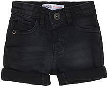 Детские черные джинсовые шорты для мальчика 9-12мес, 74-80 см Minoti