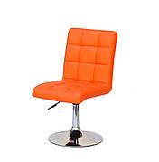 Стілець поворотний на металевій ніжці AUGUSTO CH-BASE екошкіра , колір оранжевий 1012