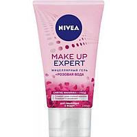 Мицеллярный гель Nivea Make up Еxpert для умывания + розовая вода, 150 мл