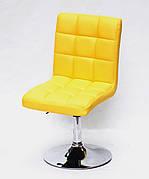Стілець поворотний на металевій ніжці AUGUSTO CH-BASE екошкіра , колір жовтий 1006