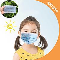 ✨ Детские гигиенические маски для девочек розовые упаковка 50 шт ✨, фото 1