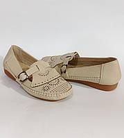Мокасины женские,туфли на низком ходу,бежевые экокожа удобная обувь на каждый день размерная сетка 38,40