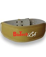 Пояс шкіряний Austin BioTech Ременная пряжка, Гладкая кожа, Бежевий, Пауэрлифтинг