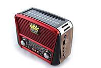 Портативная колонка MP3 USB Golon RX-455S Solar с солнечное панелью Wooden-Red