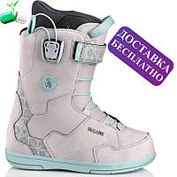 Ботинки для сноуборда женские DEELUXE Id Lara Ltd. Pf Grey Mosaic 23,5 см / размер 37,5