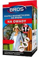Магнитная сетка от насекомых на дверь, дверная антимоскитная сетка (Черная) 160x220 см, Bros