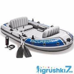 """Intex Човен """"EXPLORER 4"""" 68324 NP з алюмінієвими веслами"""