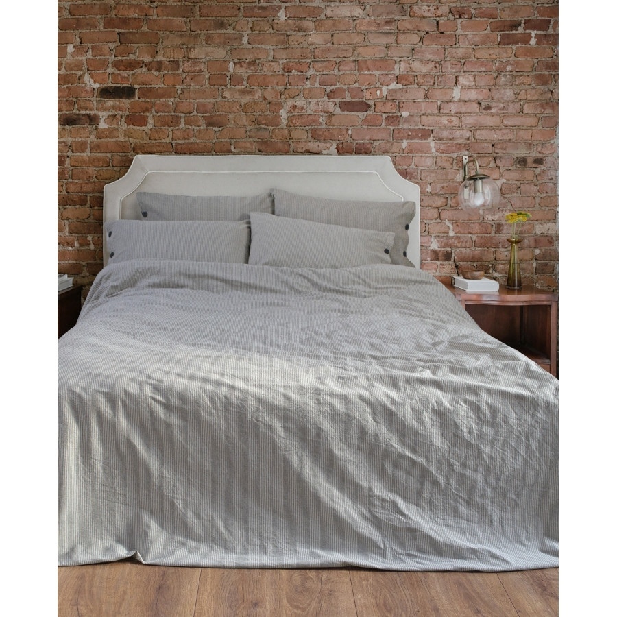 Постільна білизна Barine Washed cotton - Shint antrasit антрацит євро