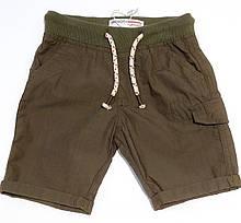 Тонкие детские шорты хаки для мальчика 1-11 лет, 74-80 см Minoti
