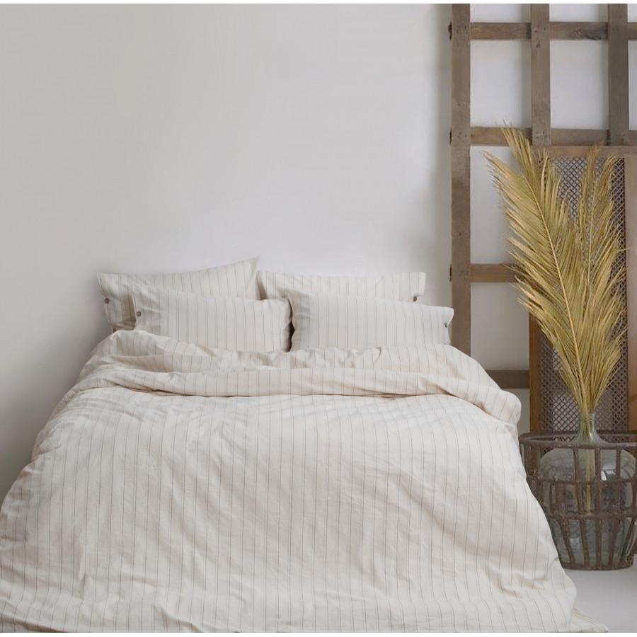 Постільна білизна Barine Washed cotton - Sunday beige бежевий євро