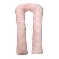 Подушка для беременных и кормления ребенка U-образная 150см со съемным чехлом