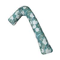 Подушка для беременных и кормления ребенка Г-образная 150 см со съемным чехлом