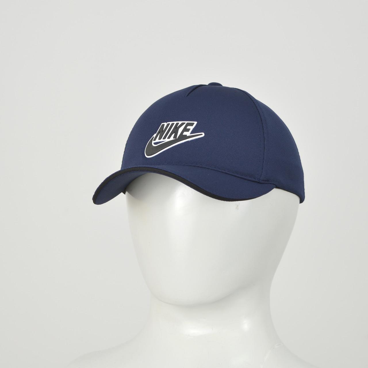 "Бейсболка ""Большой значек"" Лакоста (резина) Nike синий"