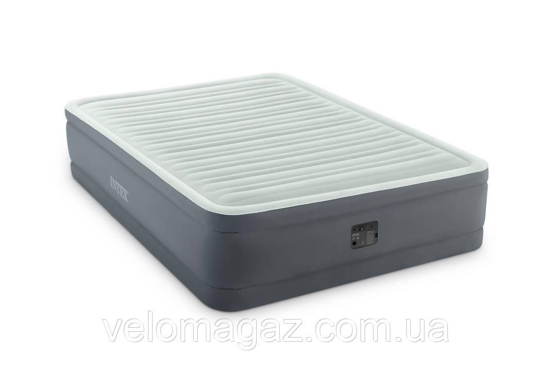 Надувная кровать Intex 64926, 152*203*46 см, встроенный электронасос PremAire