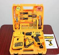 Аккумуляторный шуруповерт DeWALT DCD791 (24V, 5AH) с набором инструментов (29 ед.) Девольт