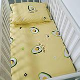 """Комплект постельного белья в кроватку для ребенка ранфорс 110х140см """"Авокадо"""", фото 4"""