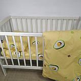 """Комплект постельного белья в кроватку для ребенка ранфорс 110х140см """"Авокадо"""", фото 5"""