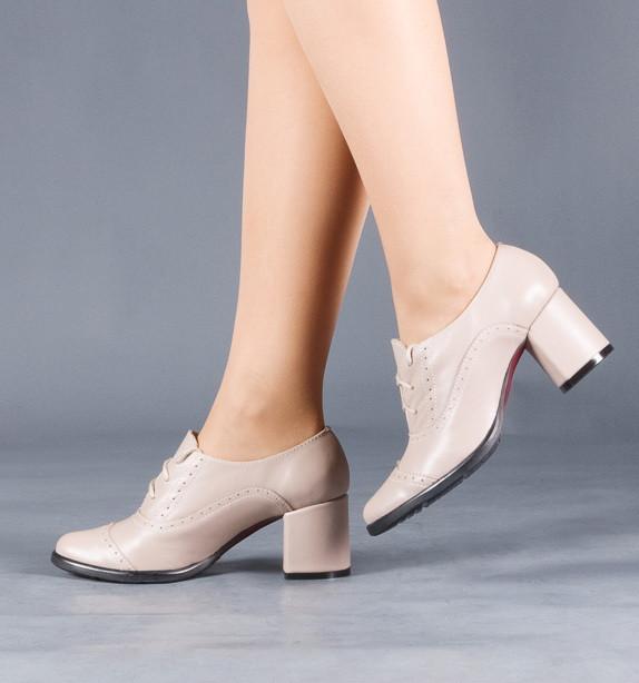 """Женские туфли """"Комфорт"""" на низком каблуке, со шнуровкой . Натуральная кожа, замша."""