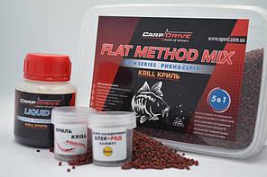 Методный пеллетс, флэт  метод микс Krill (Криль) Carp Drive  5 в 1
