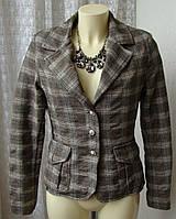 Пиджак жакет модный офис хлопок шерсть бренд Schiffhauer р.42 4454а