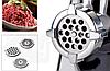 Электрическая мясорубка с насадками для шинковки 7в1. Електрична мясорубка з соковижималкою., фото 8
