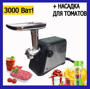 Электрическая мясорубка с соковыжималкой 6в1 3000w. Електрична мясорубка з соковижималкою