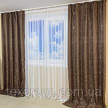 Готовые шторы Мешковина-мрамор, фото 3