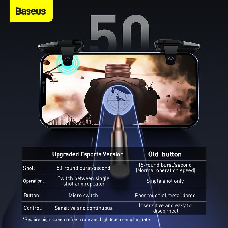 Ігровий контролер BASEUS GAMO Mobile Game automatic combo Button GA09+Scoring Tool GA10 (TZGA10-01)