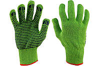 """Перчатки рабочие PRC - х/б зеленая с точкой 10"""", фото 1"""