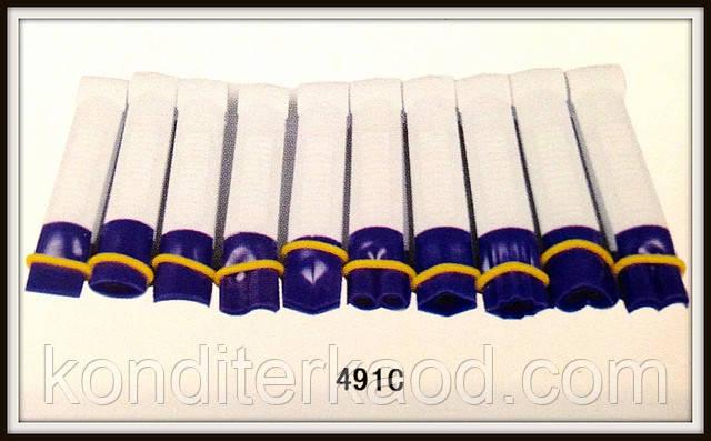Набор щипцов с гладкими краями для декора края торта из мастики маленькие