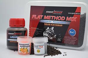 Методный пеллетс, флэт  метод микс Squid (Кальмар ) Carp Drive  5 в 1