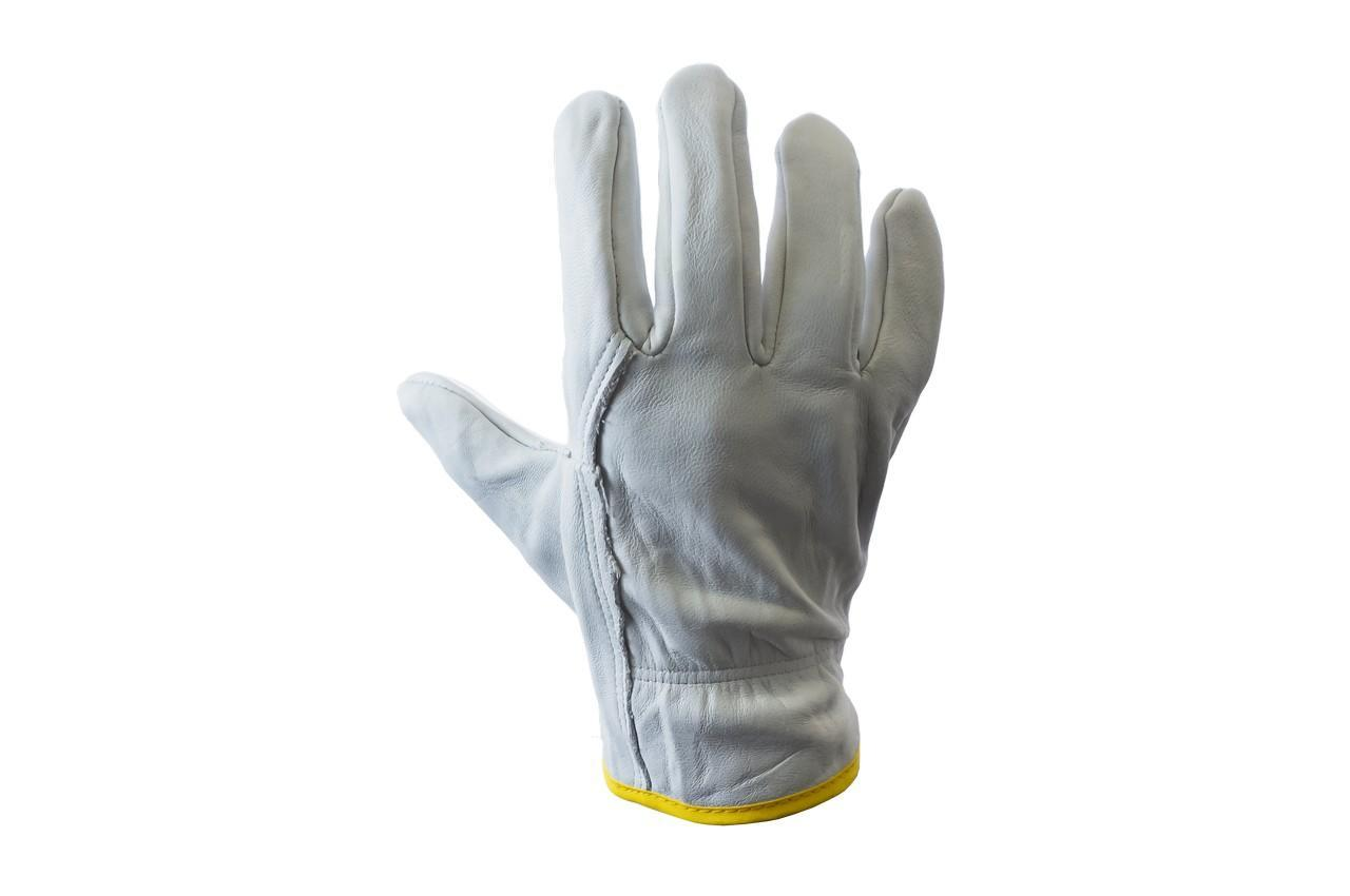 """Перчатки кожаные  PRC - 10"""" кожаная серая"""