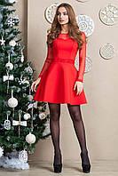 Нарядное красное платье из неопрена IE 5838