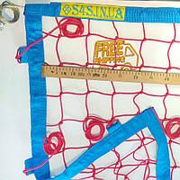 Сетка для пляжного волейбола «ПЛЯЖНЫЙ ВОЛЕЙБОЛ СТАНДАРТ» сетка волейбольная с тросом красно-синяя
