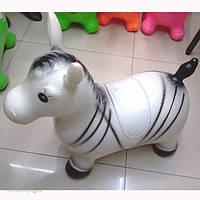 Стрибун гумовий Зебра З 4028 стрибуни для дітей, стрибун, дитячий стрибун, гумові стрибуни, надувний ослик