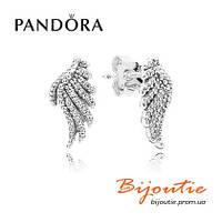 Серьги Pandora ВОЛШЕБНЫЕ КРЫЛЬЯ 290581CZ серебро 925 цирконий Пандора оригинал