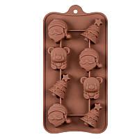 Форма силиконовая для конфет Новый год 8 шт